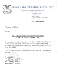 How To Write Appointment Letter 12 Sample Of An Appointment Letter Business Letter
