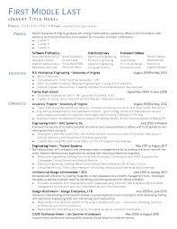 Mechanical Engineering Resume For Internship Details File Format