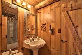 Cabin Bathroom Lake Tahoe Log Cabin Small House Bliss