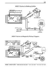 msd ignition wiring diagrams msd 7 series to mallory unilite distributor
