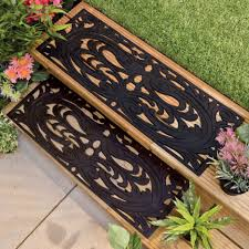 rubber stair tread mats benefits inspiring outdoor garden design with brown wooden steps and black
