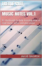 Treble Clef Music Store Treble Clef Music Notes Vol 1 93 Flashcards To Help Learning How To
