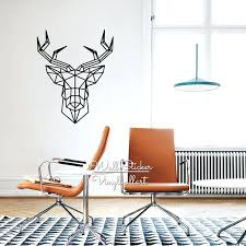 geometric wall decor geometric deer wall sticker modern geometric deer wall decals easy wall art removable geometric wall decor