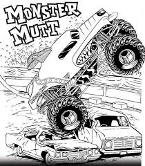 Free Printable Monster Jam Coloring Pages Monster Mutt Craft Ideas