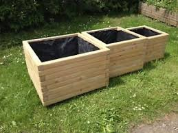 Image is loading Square-Wooden-Planters