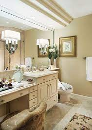 Double Sink Vanity With Dressing Table Double Sink With Makeup Table Like The Idea Of This Descript Double Vanity Bathroom Remodel Double Sink Vanity Vanity