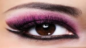 smokey eye makeup with purple and black color