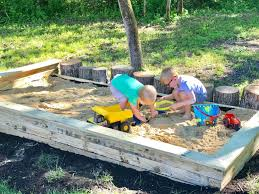 technically this is actually the third sandbox at our house jay had quickly put together a tiny one on the corner of our lot shortly after we moved in