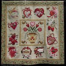 220 best Hearts & Valentine quilts images on Pinterest | Hearts ... & Vintage Valentine by Sherall Donovan, 2014 Tucson Quilt Fiesta, photo by  Quilt Inspiration. Adamdwight.com