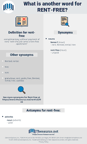 Another Word For Rent Synonyms For Rent Free Antonyms For Rent Free Thesaurus Net
