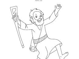 Inspirational Lame Man Healed Coloring Page Or Coloring Pages Peter