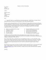 Internship Resume Cover Letter 2018