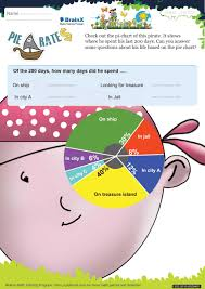 Pie Chart Games Pie Rates Math Worksheet For Grade 5 Free Printable