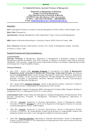 Sample Professor Resume Yralaska Com