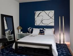 blue bedroom color ideas. White And Dark Blue Color Ideas On Simple Bedroom Decoration