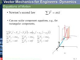 7 equations of motion newton s second law