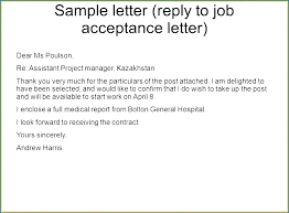 How To Write A Job Offer Acceptance Email Letter Of Acceptance For Job Letter Sample Accept Job Offer Offer