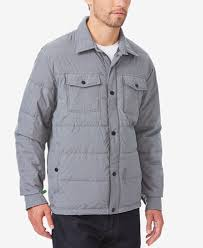 32 Degrees Men's Quilted Down Shirt Jacket - Coats & Jackets - Men ... & 32 Degrees Men's Quilted Down Shirt Jacket Adamdwight.com