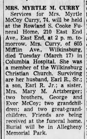 Myrtle McCoy Curry - Newspapers.com