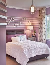 ... Bedroom, Teen Bedroom Themes Artistic Teenagers Bedroom Themes Ideas In  Purple With Bed Pillows Blanket ...