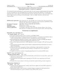 Professional Qualifications For Business Analyst Resume Business Resum