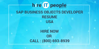 Business Objects Resume SAP Business Objects Developer Resume Hire IT People We get IT 31
