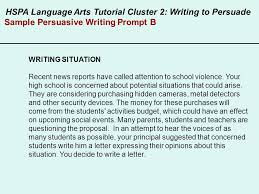 hspa language arts writing to persuade ppt video online  8 sample persuasive