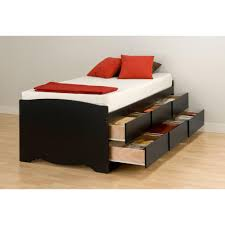 black platform bed with storage. Wonderful With Prepac Sonoma Twin Wood Storage Bed For Black Platform With R