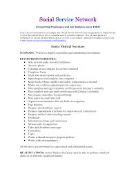 Responsibility In Resume Examples Legal Secretary Sample Job Description Medical Resume Duties 2