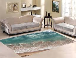wave area rugs decor beach sea and ocean wave area rug carpet 7 for living area