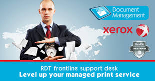 managed print with xerox accredited frontline support desk rdt