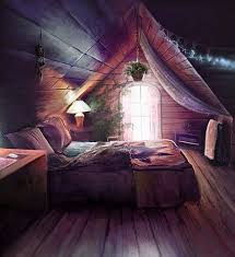 dreamy attic bedrrom with clever lights