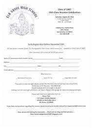 Eg High Class Of 1987 25th Class Reunion Registration Form