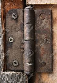 dirty old rusty door hinge stock photo 64912570