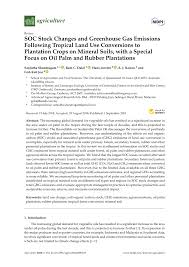 pdf soc stock changes and greenhouse gas emissions following tropical land use conversions to plantation crops on mineral soils with a special focus on