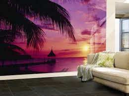 Ocean Living Room Purple Living Room Wall Murals Purple Ocean Wallpaper Murals For
