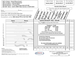 pie order form template sponsor sheets for fundraising complete guide example sheet