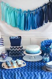 15 baby shower ideas for boys. Love this blue ombre theme for a boy baby