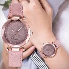 Ladies Designer Bling Watches Casual Women Romantic Starry Sky Wrist Watch