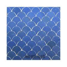 Moroccan Bathroom Tile Blue Moroccan Fish Scales Bathroom Tile