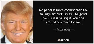 Image result for trump failing new york times