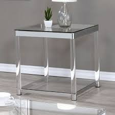 coaster  end table in chromeclear acrylic  local furniture