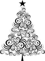 Cartoon Plain Christmas Trees  ChemineewebsiteChristmas Tree Outline Clip Art
