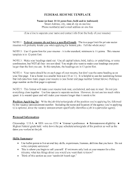 100 How To Write Federal Resume Free Federal Resume Builder
