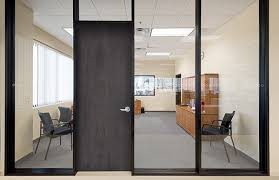 office glass door glazed. Beautiful Glass The Series 487AR Office Partition Incorporates Wood Doors For Added  Acoustical Performance Aluminumframed Are Also Available Intended Glass Door Glazed