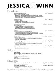 59 New Gallery Of Internship Resume Examples Concept Internships