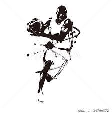 バスケットボールのイラスト素材 34790572 Pixta