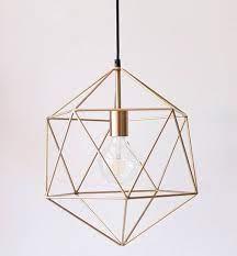 gold geometric pendant light