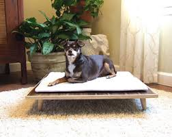 Mid Mod Platform Dog Bed