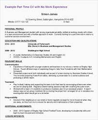 Resume Templates Examples For Highschool Students Applying To Resume